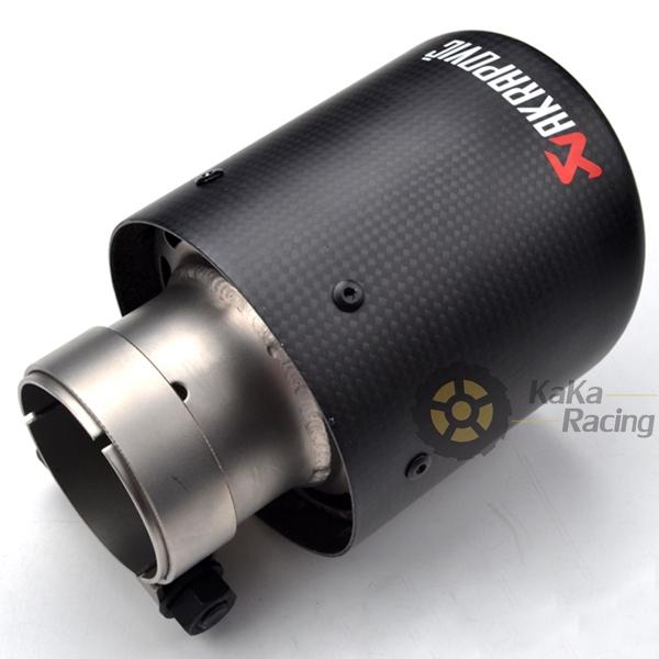 Inlet 57mm Outlet 101mm Universal Carbon Fiber Muffler Exhaust Tip Racing Muffler Pipe Carbon Fiber(China (Mainland))
