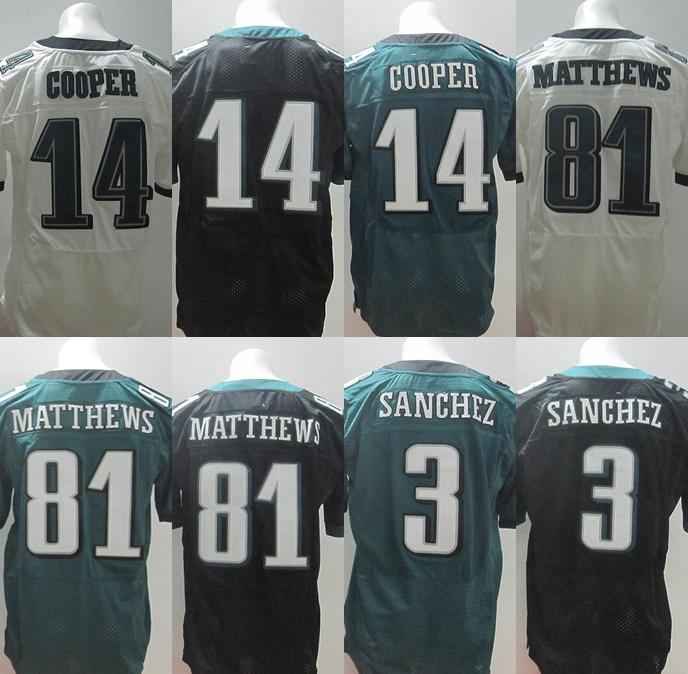 81 Jordan Matthews #3 Mark Sanchez Jersey,Elite Football Jersey,Best quality,Authentic Jersey,Size M - XXXL,Accept Mix Order(China (Mainland))