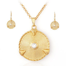 nigerian wedding african beads jewelry set crystal african costume indian 24k gold plated fashion 18k gold sets 2015 sieraden(China (Mainland))