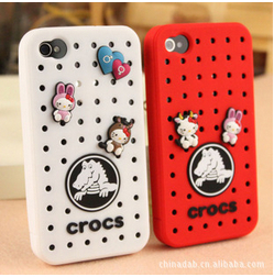 croc shoes Special berserk cute doll silicone phone case for Apple 4/4S(China (Mainland))