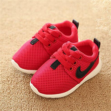 Fall 2015 Children Shoes Size21-25 Blue + Red + Black Breathable Comfortable Kids Sneaker Shoes Boys Girls Toddler Shoes Baby(China (Mainland))