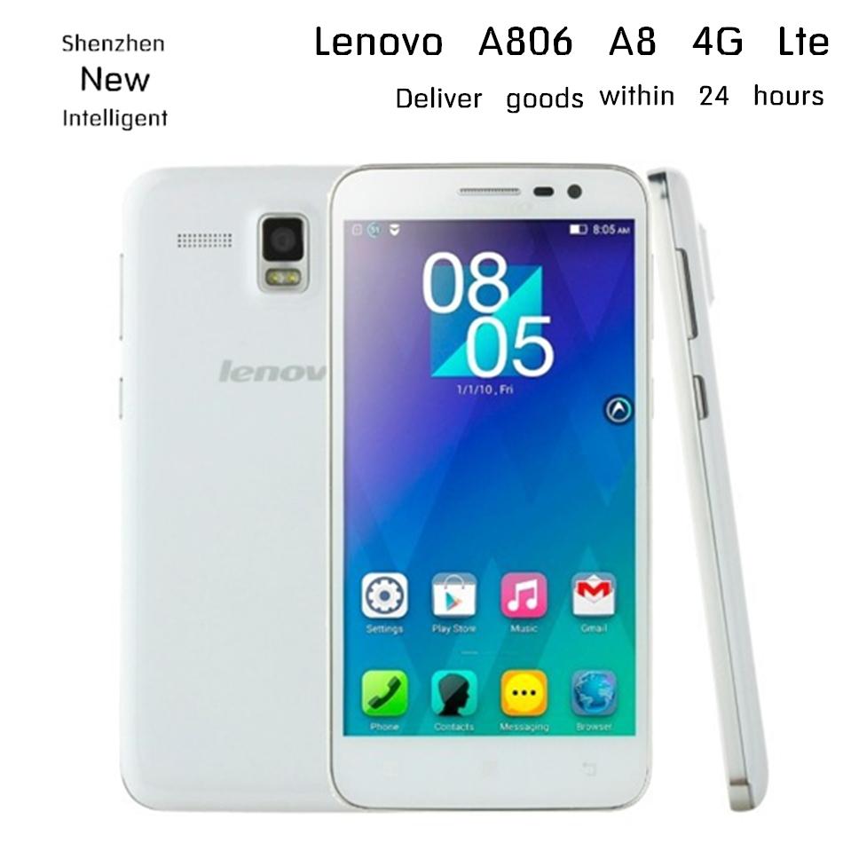 Free Gift Lenovo A808T A806 A8 4G LTE MTK6592 Octa core smartphone 5 0 HD 2GB
