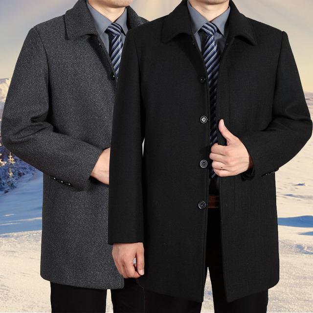 2015 зима мода мужские тренчкот осень мужская одежда шерсть плащ свободно свободного ...