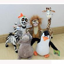 Trendy Madagascar plush toys kids child giraffe Penguin hippo fashion gifts cotton animals toys cute(China (Mainland))