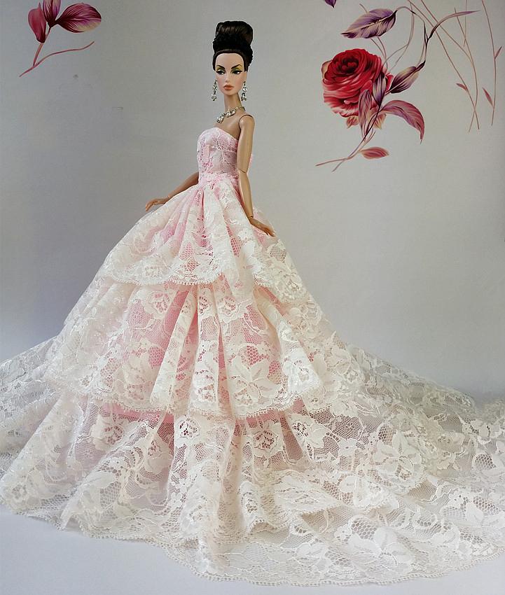 Barbie Doll Pink Wedding Dress Images