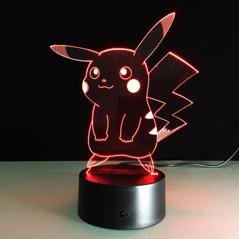 USB RGB лампа в виде Пикачу с сенсорным затемнением 3D ночной Светильник IMG_2161
