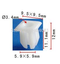 50x OEM Nylon Grommet Clip Nut #8 Screw Size for Ford 379830-S, for Chrysler: 6033677