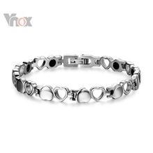 Healthy Magnetic Bracelet Men/Woman Heart  Design 316L Stainless Steel  Health Care Elements Bracelet  Hand Chain Jewelry (China (Mainland))