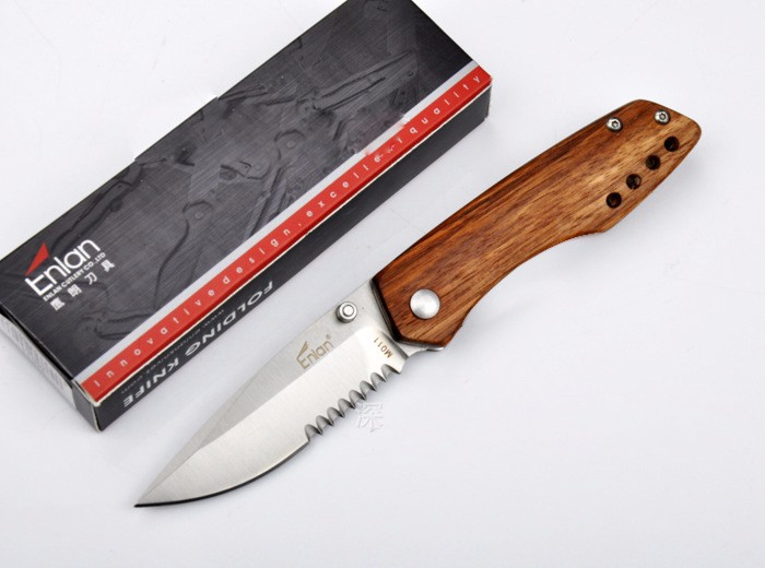 Buy LIANGREN Camping Folding Knife Sharp Small Pocket Knife 8Cr13MoV Steel Hunting Survival Knives 2 Options cheap