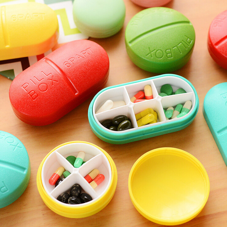 Candy Solid Cute Pill Medicine Travel Outdoor Case Storage Splitters Box Jewelry Display Cosmetic Makeup Organizer