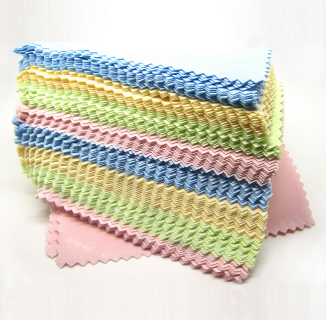 New Arrival 60 pcs/lot Microfiber Cleaning Cloth Colorful Cleaning Tool For Glasses Screens Lens ej670180