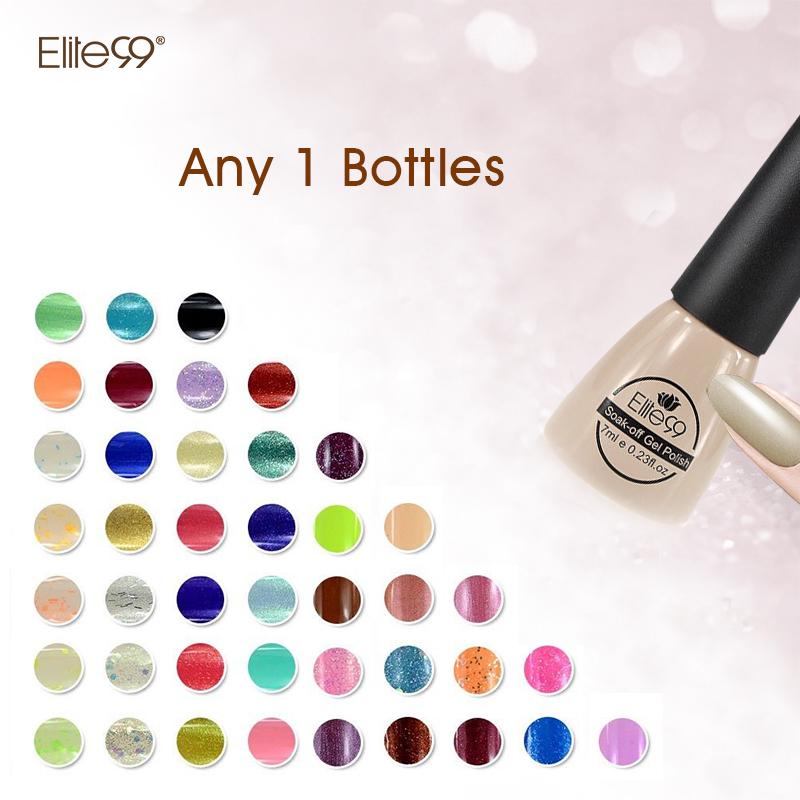 Elite99 New Design Soak Off Color Gel Nail Polish Long Lasting Gel Nails Top And Base Coat Needed Choose 1 From 178 Colors(China (Mainland))