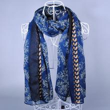 High quality women printe satin jet drawing design silk flower shawls long muslim more design scarves/scarf M3531(China (Mainland))