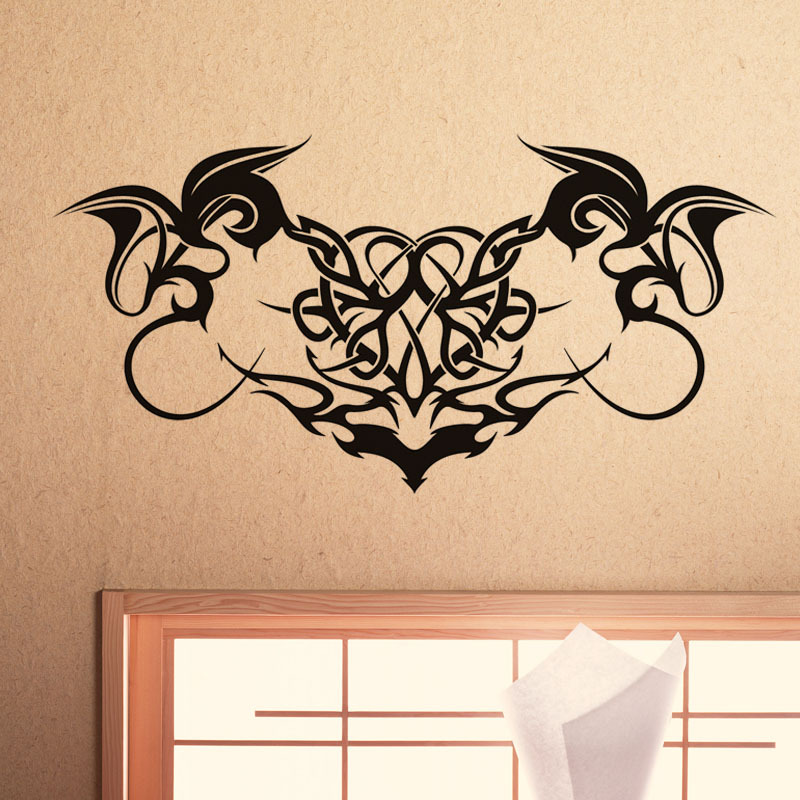 Most Popular Gothic Home Decoration Wall Art Sticker Hollow Out Removable Waterproof Vinyl Wall Decal