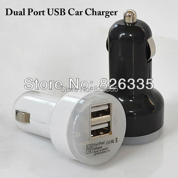 Mini 12v / 24V Portable Dual Port USB Car Charger Power Adapter for iPhone iPad iPod Galaxy MP3 MP4 5V out(China (Mainland))