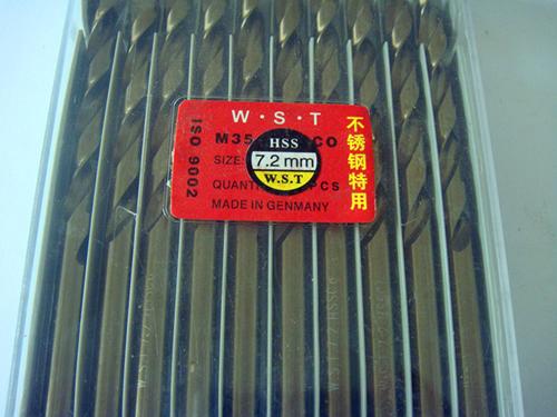 7.2MM Cobalt drill bit Straight Shank Twist Drill bit 10pcs=1lot M35 Material<br><br>Aliexpress