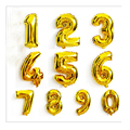 16inches Number Foil Balloons Digit Helium Ballons Birthday Decorations Wedding Air Baloons Event Party Supplies