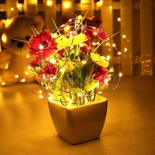 Buy 2m/20Leds 3m/30Leds Copper Wire Button Cell Battery Powered Led String Lights Warm White Christmas Fairy Lights Home Decoration for $2.51 in AliExpress store