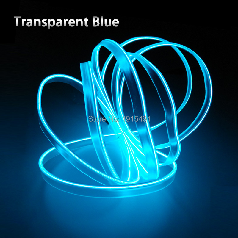 EL Wire lights 6mm Sewing Edge Neon Light Dance Party Car Decor Light Neon Flexible EL Wire Rope Tube LED Strip With 5V USB Plug