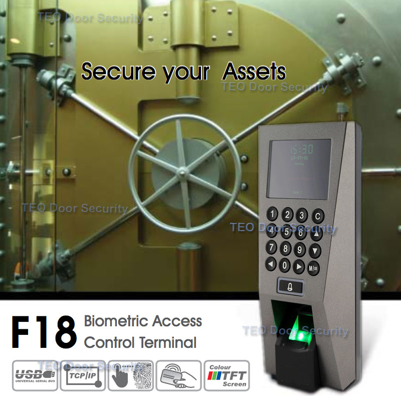 ZKTeco F18 Access Control Time Attendance Recognition System ZK 5.0 Time Attendance System USB Fingerprint Scanner with SDK(China (Mainland))