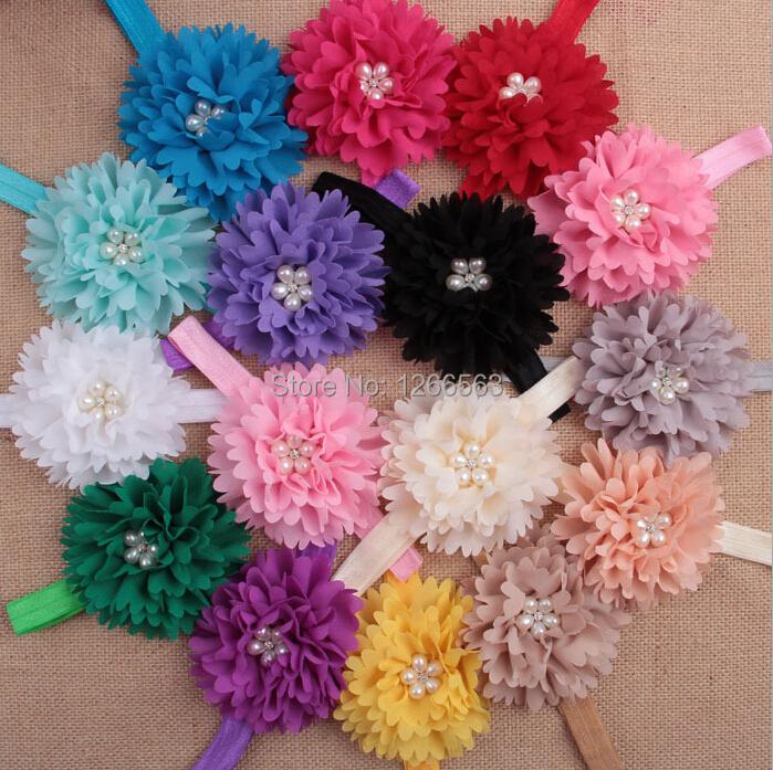 Hot Sale Kids Baby Girl Headbands Elastic Flower Hair band children Hair Accessories Baby's Gift(China (Mainland))