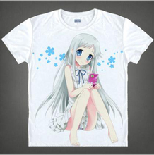 2016 Special Offer Seconds Kill Freeshipping Casual Brand Clothing Unisex Summer Japanese Anime Anohana Diy Costume T-shirt