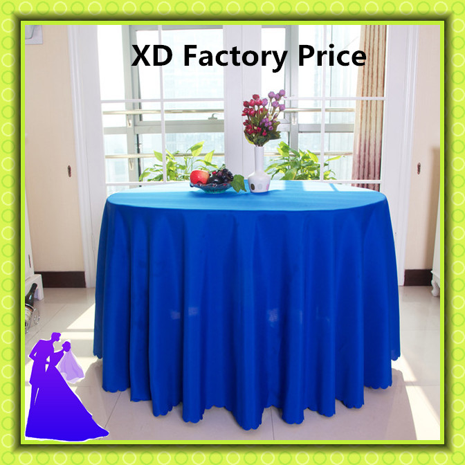 "2015 hot selling free shipping 90"" polyester round table cloth for wedding/banquet(China (Mainland))"