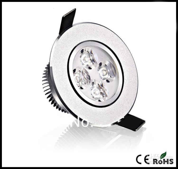 10шт розничных высокой мощности привело потолка вниз света Серебряный 12w 900lm привело лампа 85-265v привело лампочки downlight