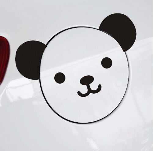 Panda Cute Car Stickers Cartoon Animal Oil Tank Decoration Decals Personalized Sticker - Smartgives Industrial Co.,Ltd. store