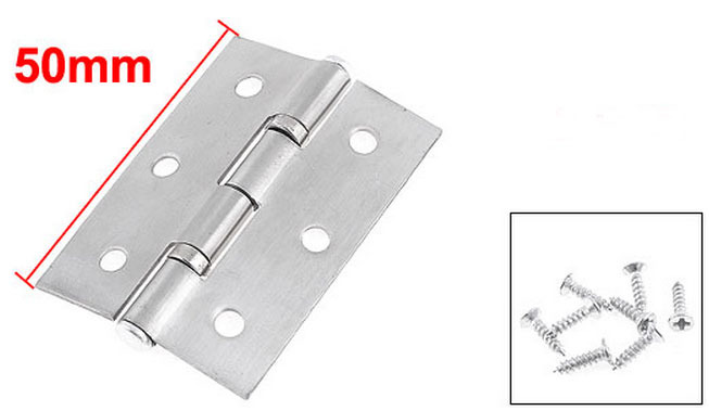 20 Pcs Silver Tone Metal Cabinet Door Butt Hinges 50mm x 35mm(China (Mainland))