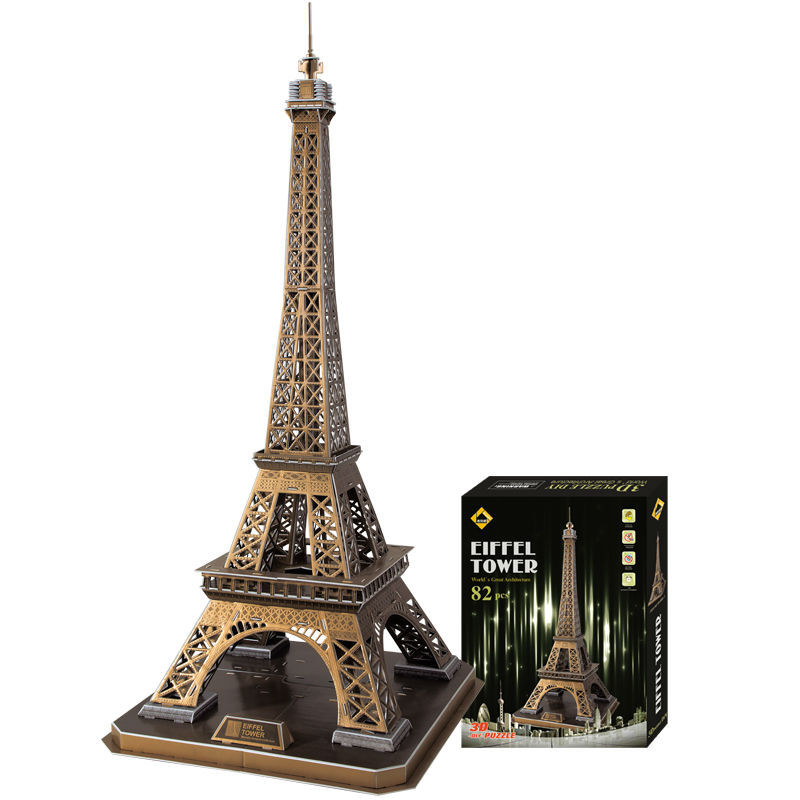 Здесь продается  Hot selling Eiffel Tower 3D puzzles DIY 3D jigsaws exquisite interior decoration best gifts 82pcs 82*39cm large size  Игрушки и Хобби