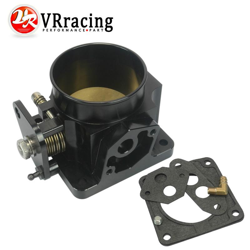 VR RACING-BLACK 75MM BILLET CNC THROTTLE BODY FOR 86-93 FORD MUSTANG GT COBRA LX 5.0 VE6958BK(China (Mainland))