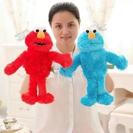 The story of parent-child interaction, active hand puppet long mouth Sesame Street, plush toys, gifts of children(China (Mainland))
