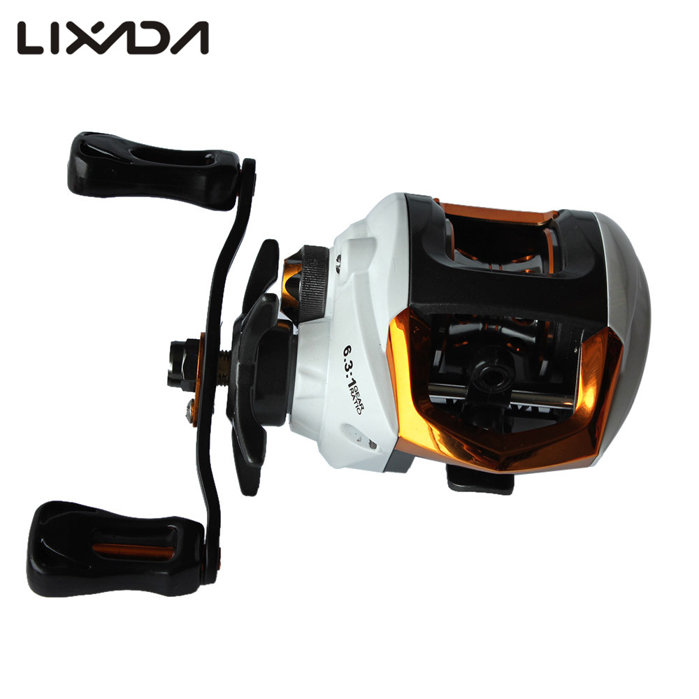 Lixada 12+1 Ball Bearings Right/Left Hand Baitcasting Reel Fishing Fly High Speed Fishing Reel with Magnetic Brake System(China (Mainland))