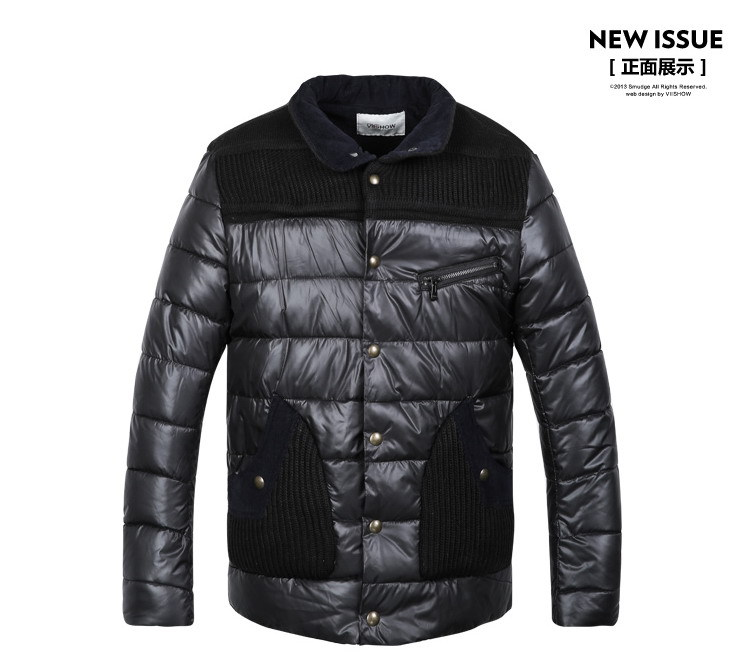 Pocket coat Winter Coat men 2015 autumn single breasted mens patchwork jacket and coats stand collar