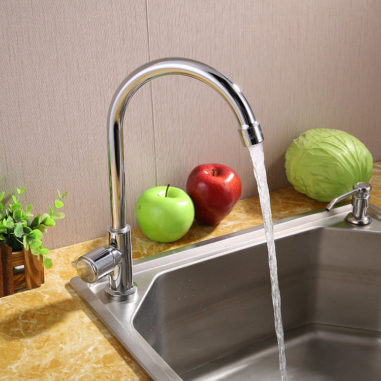 Retail Bathroom Bathtub Faucet Solid Brass Chrome Kitchen Basin Sink Mixer Tap Cold Water High Quality Deck Mounted Water Tap(China (Mainland))