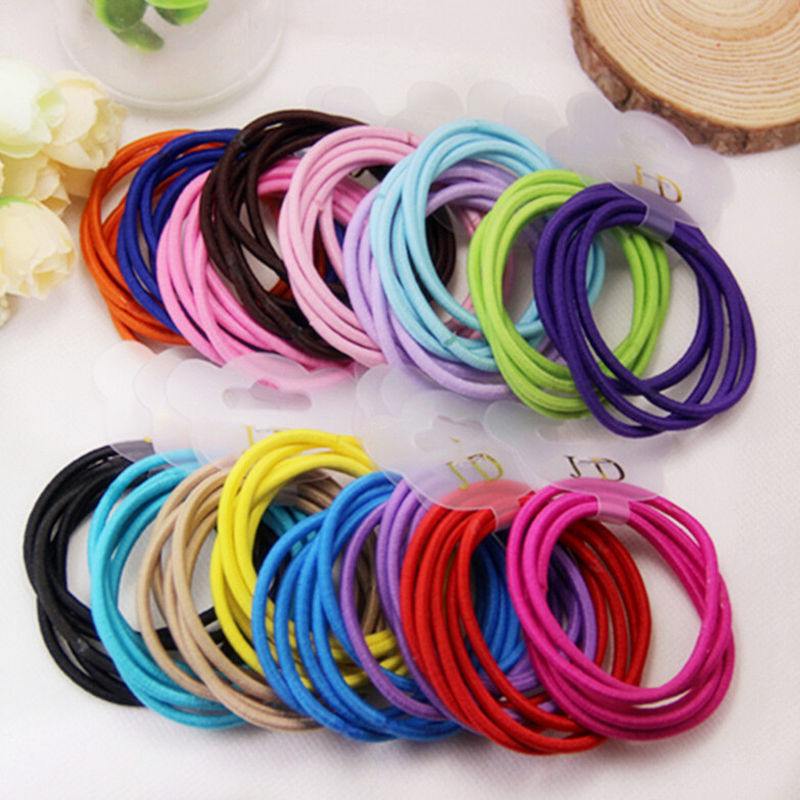 2lot=10 pcs Elastic Hair Bands for Women Baby Girls Kids Headbands Headwear Hair Ropes Accessories Beauty Tools(China (Mainland))