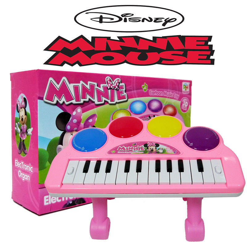 MINNIE MOUSE KIDS ELECTRONIC PIANO KEYBOARD ORGAN EDUCATION MUSICAL BABY TOY GIFT(China (Mainland))