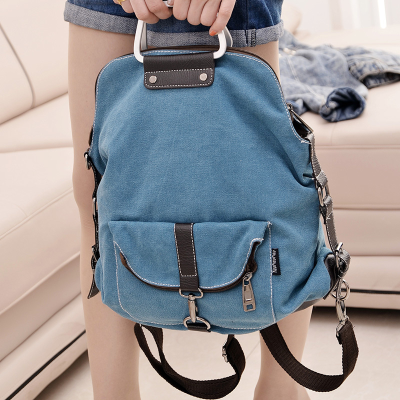 Hot sale fashion Women canvas Bag Lady backpacks shoulder crossbody bag multifunction women backpack women bags