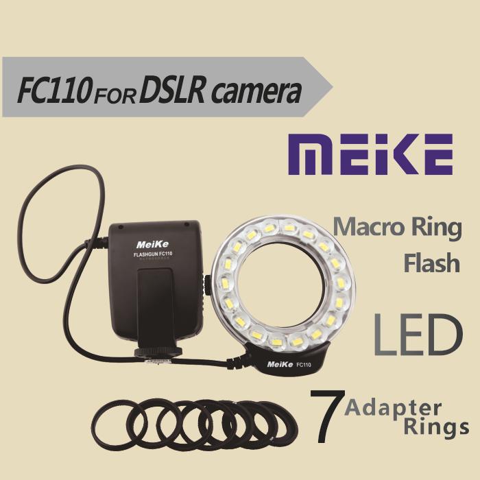 Meike FC-110 LED Macro Ring Flash Light FC110 for Pentax Canon EOS Nikon Olympus sony DSLR Camera<br><br>Aliexpress