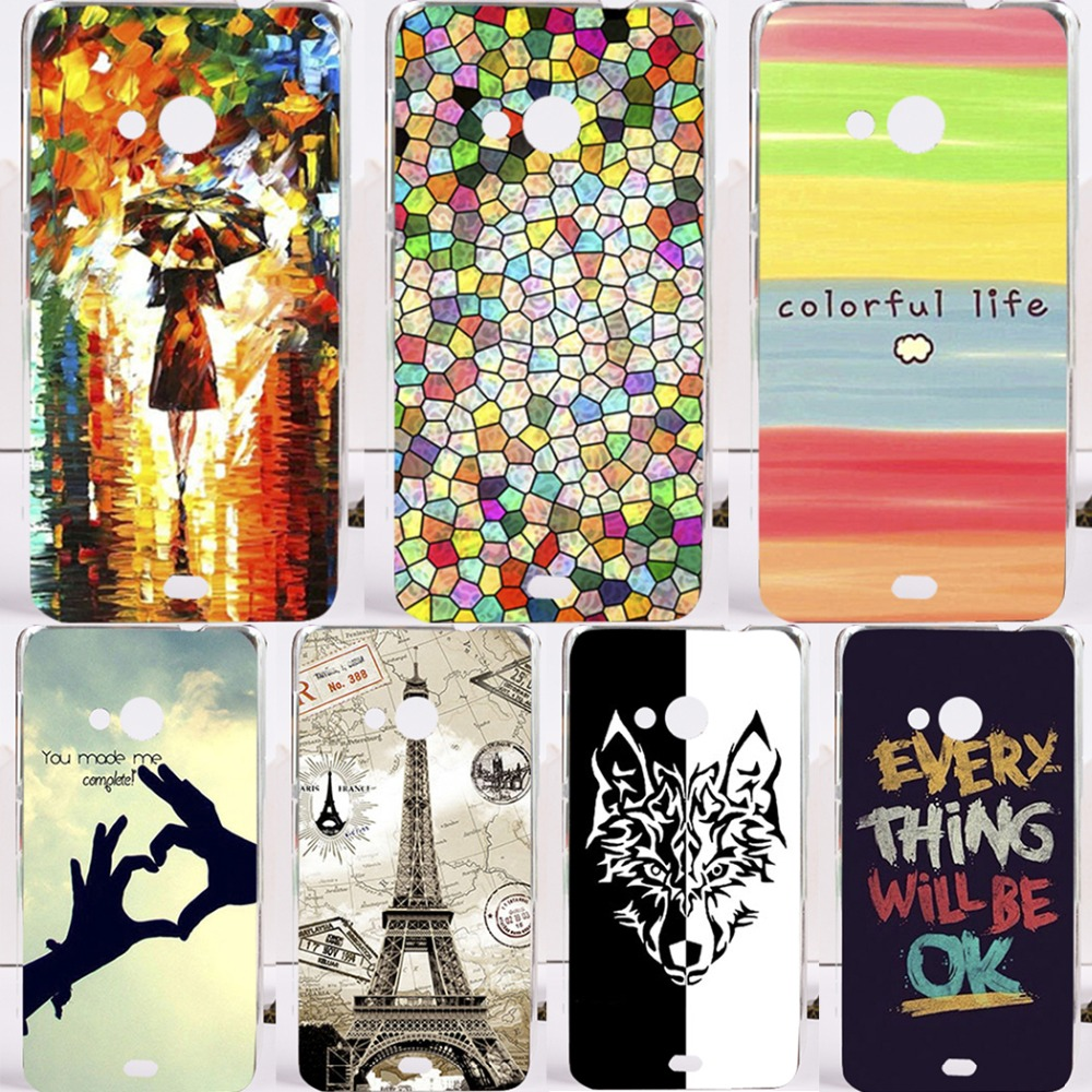 22 Styles DIY Painted Mobile Phone Case For Microsoft Nokia Lumia 540 N540 5inch Cover Fashion Hard Plastic Cell Phone Case 2016(China (Mainland))
