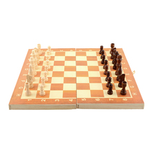 New Arrival Quality Classic Wooden International Chess Set Board Game 34cm x 34cm Foldable Kids Gift Fun Hot(China (Mainland))