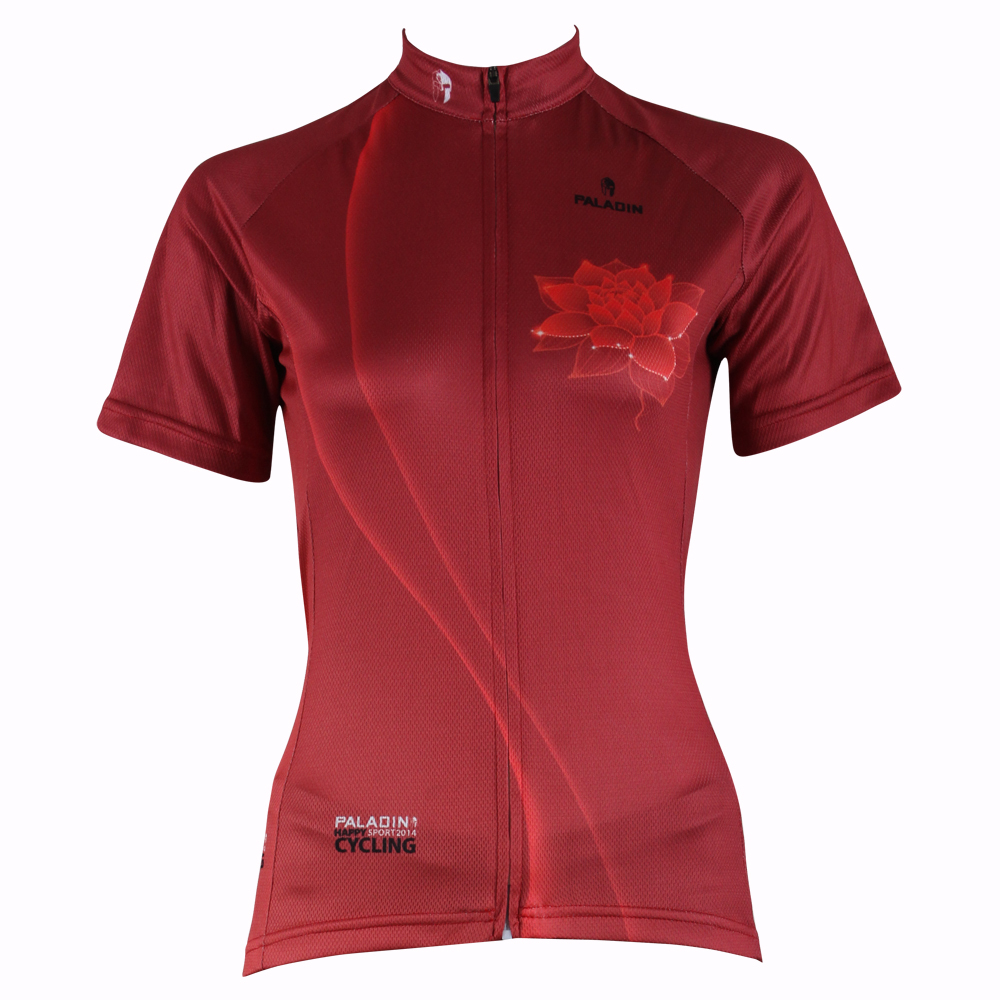 Free shipping Padma Women Short Sleeve Cycling Jersey Red Breathable Polyester Riding Clothes Size XS,S,M,L,XL,XXL,XXXL(China (Mainland))