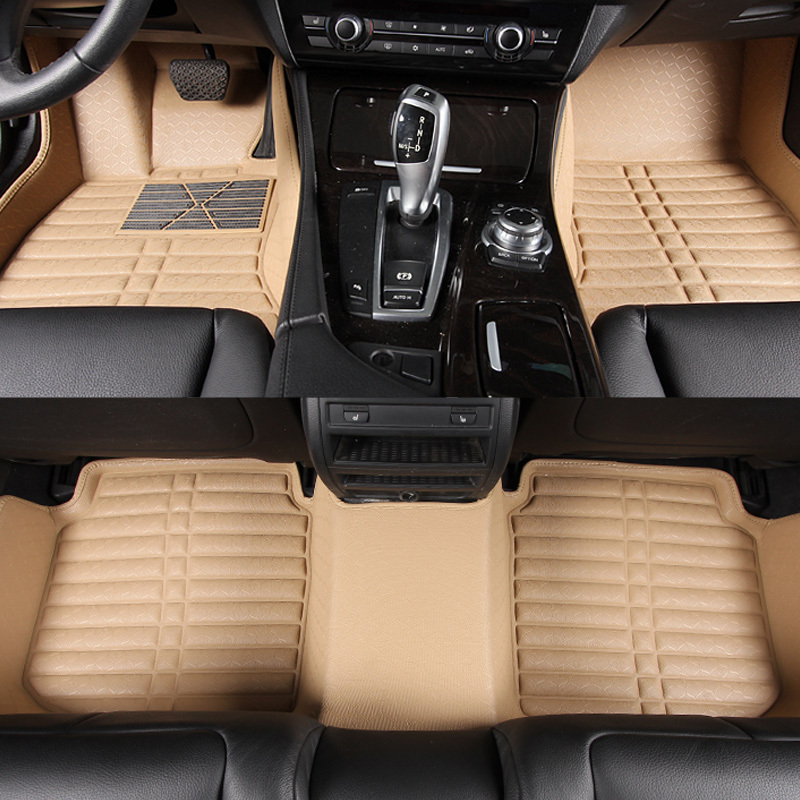 2015 fashion car styling waterproof wear resisting leather car floor mats and foot pads for. Black Bedroom Furniture Sets. Home Design Ideas