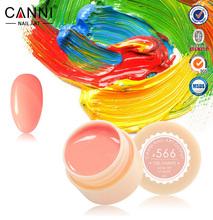 2015 Colors CANNI Solid Pure Glitter UV Soak Off Gel Paint Set Nail Art False Full
