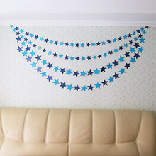Buy 4M Colorful Bunting Hanging Paper Star Garlands Birthday String Chain Banner Ornaments Curtain Wedding Party Room Decor for $1.14 in AliExpress store