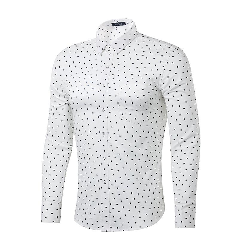 Compare Prices on Polka Dot White Shirt Men- Online Shopping/Buy ...