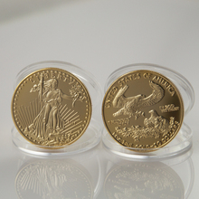 """4 pcs/lot 1OZ 2011 Liberty Gold Plated Double Eagle gold plated Coin Without """"copy"""" American Coin free shipping(China (Mainland))"""