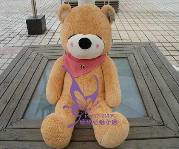 Free shipping Plush Full Cotton teddy bear toys 140cm White/Dark brown/Light Brown 120cm/160cm/180cm/200cm<br><br>Aliexpress