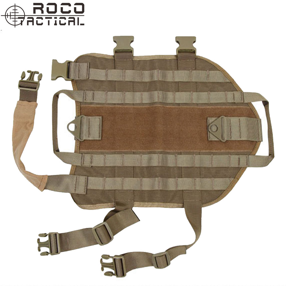 ROCO MOLLE Tactical Vest Harness For K9 Dog Vest Ranger Green/Black/TAN